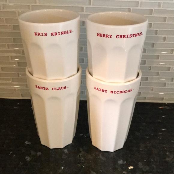 Rae Dunn Other - Rae Dunn Melamine Christmas Cups Set 4